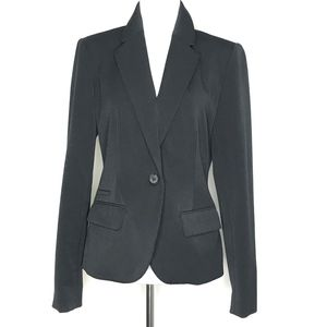 Merona Black Single Button Blazer Jacket A160806